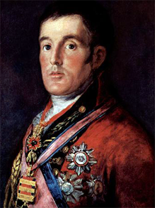 General Arthur Wellesley (futuro Duque de Wellington), retrato pintado por Francisco de Goya (National Gallery de Londres)- Portal Fuenterrebollo